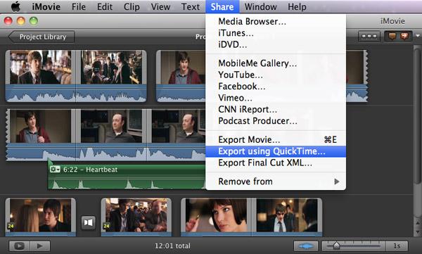 exportar apenas o áudio no iMovie