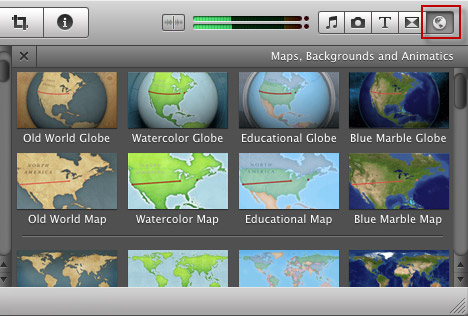 iMovie maps